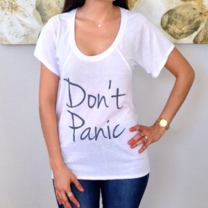 Don't Panic Flowy T-Shirt
