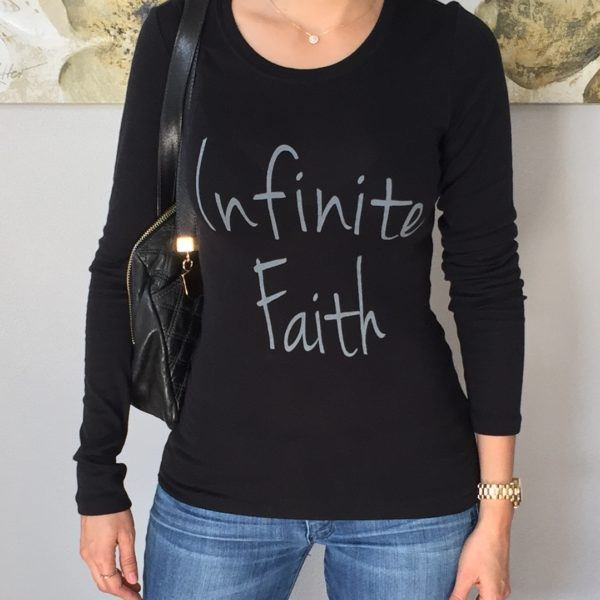 Infinite Faith Black Long Sleeve Top