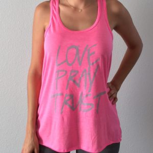 Love Pray Trust Tank Top