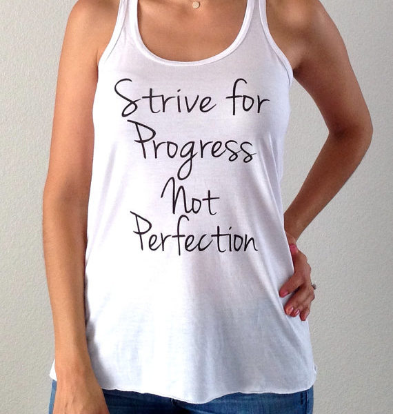 Strive for Progress Not Perfection Flowy Tank Top