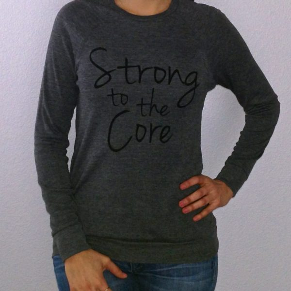 Strong to the Core Charcoal Lightweight Sweater