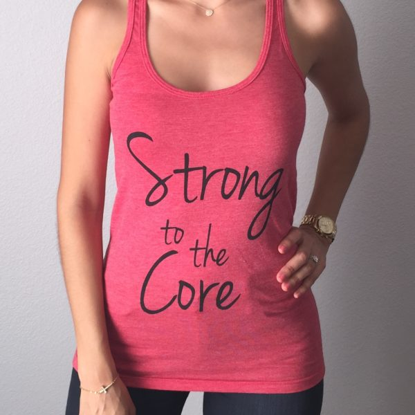 Strong to the Core Fitted Tank Top